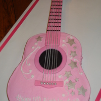 Ayva's Pink Guitar My little friend wanted a pink guitar-that's all I knew. I found out later it was a Hannah Montana party; don't know why they...