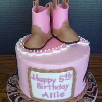 Allie's Cowgirl Cake Small 6: WASC with buttercream icing and fondant accents.