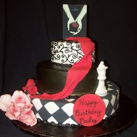 "Twilight   Cake was designed for a teenage ""Twilight"" fan. Buttercream icing with fondant details."