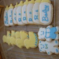 Baby Shower Cookies   I had a lot of fun with these, only my second time doing the cookies, got a lot of ideas from pictures on here.