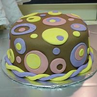 "Retro Cake  This was a chocolate cake with rasberry filling and chocolate mmf. Fun to do and pretty easy. My best friend wanted a ""retro cake&quot..."