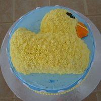 Top Of Duck Cake I made a baby shower cake for my friend who was doing the baby's room in ducks. I used half of the wilton duck mold and placed it on...