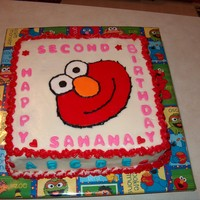 Elmo Cake This was a last minute request from a friend. She wanted a small cake for her daughter's birthday on her birthday. Party is not till...