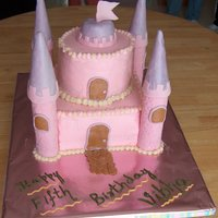 Castle Cake My daughter wanted a castle cake and she wanted it to be pink. I ran out of time due to party preparation and didn't complete what I...