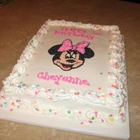 Minnie Mouse Birthday 11x15 sheet cake ...all buttercream!