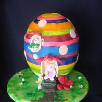 "Gigant Ester Egg Easter egg covered in Fondant and airbrushed. it is about 16"" high. I appreciate all kinds of comments, I wanted to use pastel colors..."
