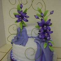Midnight Orchids i copied this cake it was by a designer named Ceri DD Griffiths