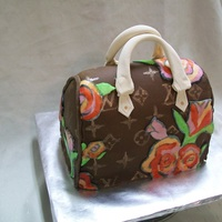 Louis Vuitton Purse Took me 8 hours! First purse cake.