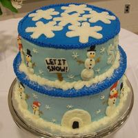 Winter Wonderland A snowman themed cake for a church event.