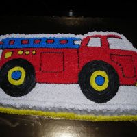 Fire Truck Engine This is my first cake .