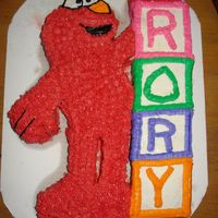 Elmo With Blocks Elmo for my daughter's 1st birthday.