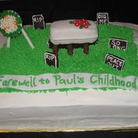 Funeral Birthday Cake A friend of mine threw her husband a surprise 30th bday party; the theme being 'saying goodbye to his youth'. When she told me &#...