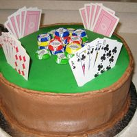 Poker Table A quick and easy last minute request for a birthday cake for two men. Poker nights are a regular thing for these boys, so this was an...