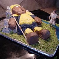 David & Goliath Victorious David! My final cake had 5 smooth stones (pistacio nuts) sitting at his feet. Pound Cake & Butter Cream. You should have...