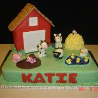 Farm Cake I made this cake for my daughter's 3rd birthday with inspiration from all the terrific farm cakes on this site, but especially those...