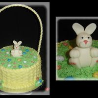 "Happy Easter 10"" with Sugarshack's bc. Fondant/tylose handle and bunny. Thanks for looking!"