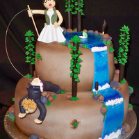 """what A Catch"" Wedding Cake A client requested a wedding cake that incorporated their love for fishing so this is what we came up with. The figurines were made using..."
