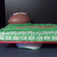 Football Celebration Celebrating middle school football championship! Sheet cake iced in BC with fondant numbers/letters. The football is covered in chocolate...