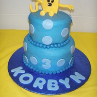 Wow Wow Wubbzy Brother and sister sharing their birthday! Buttercream icing with fondant accents and I made Wubbzy from fondant also.