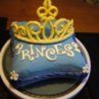 Princess Tiara Cake Two layer chocolate cake covered with Deluxe Rolled Ice Fondant. The Tiara is a 50/50 mix of fondant and gumpaste. I had my fingers crossed...
