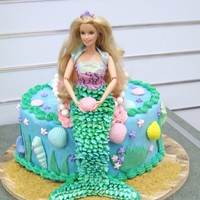 Mermaid Barbie I am an instructor at our local craft/fabric store. I made this cake for a display. My two girls used to play with this Barbie, but they...