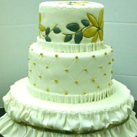 Img_4025.jpg Fondant with quilting, stenciling and ruffled bottom border from Class with Colette Peters.