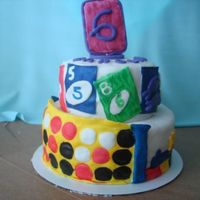 Game Crazy! this cake was made for a little girl who loved to play board games.