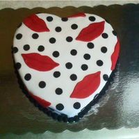 Lips And Polka Dots This wasn't actually for Valentine's Day...my 7 year-old niece requsted this exact cake for her birthday party. I'm not sure...