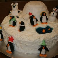 First Christmas Cake  My first cake outside of the Wilton classes. Thanks to everyone for sharing their cakes and know how. 10' rd WASC with peppermint...