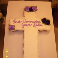 First Communion 24 cupcakes w bc. all decorations are in bc