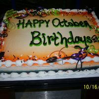 October Birthdays 1/2 sheet cake with bc.