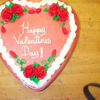 Valentine Cake Valentine's heart done with buttercream.