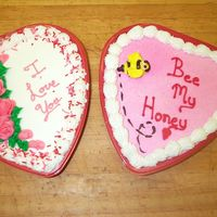 More Valentine's Cakes   Two more of my Valentine's heart cakes. All done in buttercream.