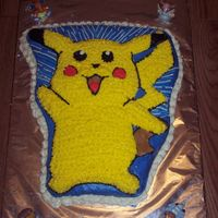 Pikachu Cake   This was for my son's 5th birthday.