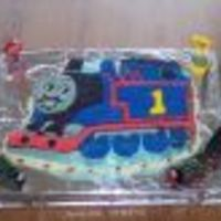 Thomas The Tank Engine   I made this for my son's 4th birthday. He's a Thomas fanatic and was super excited about this!