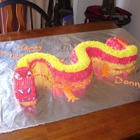 Chinese Dragon Chinese dragon, two bunt pans, two mini-loaf pans, carrot cake, cream cheese icing