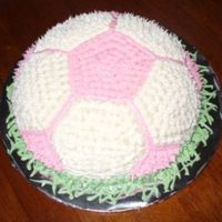 Pink/white Soccer Ball