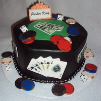"Porker King! Poker cake for a friend's dad who loves poker. Family wanted it to say ""Porker King""- his nickname :)"