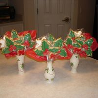 Christmas Cookie Bouquet  These bouquet's were made for my daughter's preschool teachers. Found a 3-pack of the Lenox vases and kept with the holly and...
