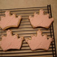 Princess Crown Sugar Cookies   These pink crown sugar cookies were made for my daughter's Sleeping Beauty princess birthday party.