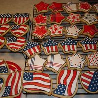 July 4Th Sugar Cookies   July 4th patriotic sugar cookies made for friends.