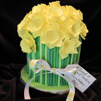 Daffodil Bouquet  Been wanting to try one of these and Mother's Day was the perfect excuse. Vanilla cake with buttercream icing, Kahlua flavored syrup,...