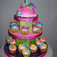 Butterflies Butterfly cupcake tower