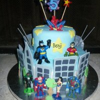 Superhero Cake For my son's 5th Birthday