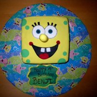 Spongebob Cake for my son's 4th birthday. He loves spongebob and it was so easy to do.
