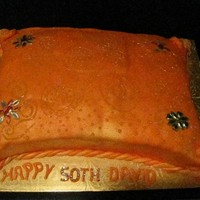 50Th Birthday Bejewelled Pillow Cake