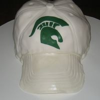 Msu Spartan Hat I tried out this hat cake from Confetti Cakes.