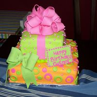 Pink, Orange And Green All fondant