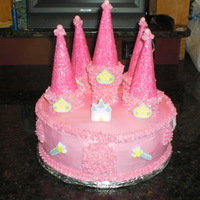 Castle Cake My oldest daughter loves pink, as you can see. I don't like using the pre-made cupcake candies (I think they're gross!), but my...