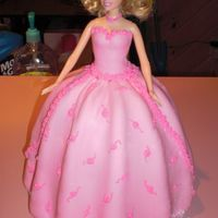 Barbie Fondant with RI flowers. I wanted to add more detail but the kids couldn't wait any longer :)